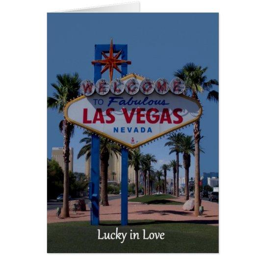 Lucky in Love Las Vegas Wedding Card