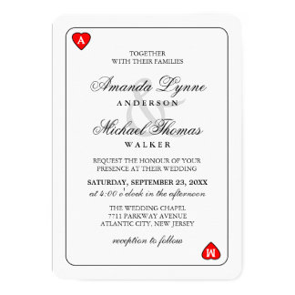 Lucky in Love - Together With - Wedding Invitation
