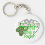 Lucky In Love with a Soldier! Key Chain