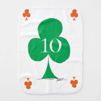 Lucky Irish 10 of Clubs, tony fernandes Burp Cloth