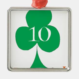 Lucky Irish 10 of Clubs, tony fernandes Christmas Ornament