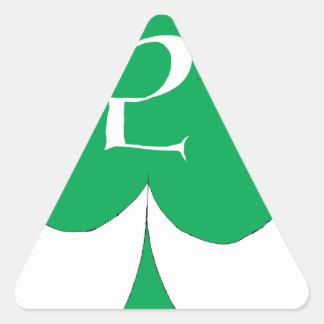 Lucky Irish 2 of Clubs, tony fernandes Triangle Sticker