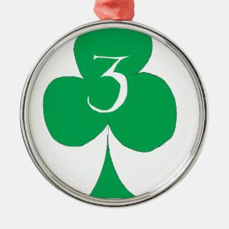 Lucky Irish 3 of Clubs, tony fernandes Christmas Ornament