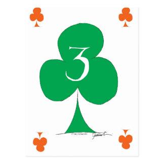 Lucky Irish 3 of Clubs, tony fernandes Postcard
