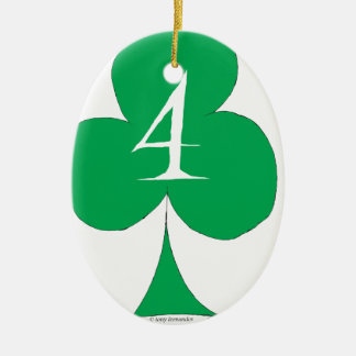 Lucky Irish 4 of Clubs, tony fernandes Christmas Ornament