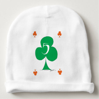 Lucky Irish 5 of Clubs, tony fernandes Baby Beanie