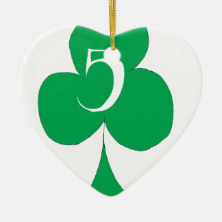 Lucky Irish 5 of Clubs, tony fernandes Christmas Ornament