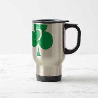 Lucky Irish 5 of Clubs, tony fernandes Travel Mug