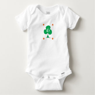Lucky Irish 6 of Clubs, tony fernandes Baby Onesie