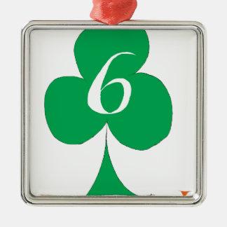 Lucky Irish 6 of Clubs, tony fernandes Christmas Ornament