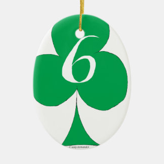 Lucky Irish 6 of Clubs, tony fernandes Christmas Ornament