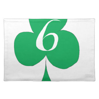 Lucky Irish 6 of Clubs, tony fernandes Placemat