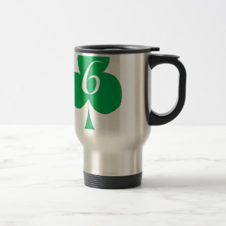 Lucky Irish 6 of Clubs, tony fernandes Travel Mug