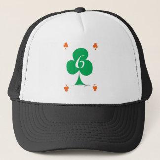Lucky Irish 6 of Clubs, tony fernandes Trucker Hat