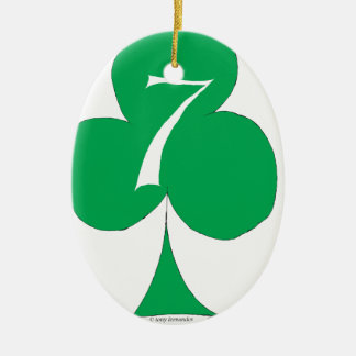 Lucky Irish 7 of Clubs, tony fernandes Christmas Ornament