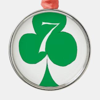 Lucky Irish 7 of Clubs, tony fernandes Christmas Ornament