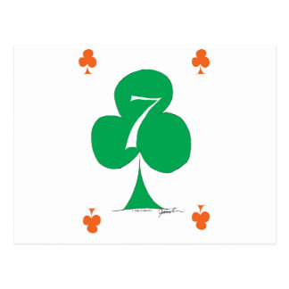 Lucky Irish 7 of Clubs, tony fernandes Postcard