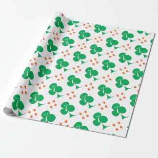 Lucky Irish 7 of Clubs, tony fernandes Wrapping Paper