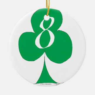 Lucky Irish 8 of Clubs, tony fernandes Christmas Ornament