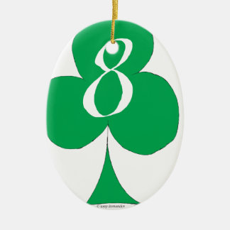 Lucky Irish 8 of Clubs, tony fernandes Christmas Ornament