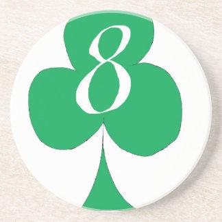 Lucky Irish 8 of Clubs, tony fernandes Coaster