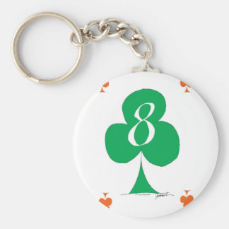 Lucky Irish 8 of Clubs, tony fernandes Key Ring