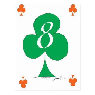 Lucky Irish 8 of Clubs, tony fernandes Postcard