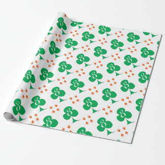 Lucky Irish 8 of Clubs, tony fernandes Wrapping Paper