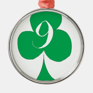 Lucky Irish 9 of Clubs, tony fernandes Christmas Ornament