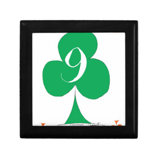 Lucky Irish 9 of Clubs, tony fernandes Gift Box