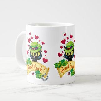 Lucky Irish Cat! Large Coffee Mug