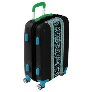 Lucky Irish Celtic Carry On! Add Initials, Bright! Luggage
