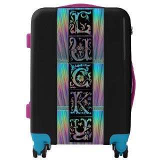 Lucky Irish Celtic Carry On! Add Initials, Neon! Luggage