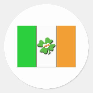 Lucky Irish Flag Round Sticker