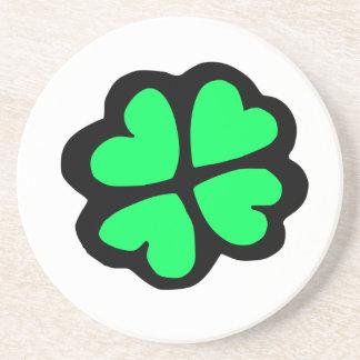 Lucky Irish Four-Leaf Clover/Shamrock Drink Coasters