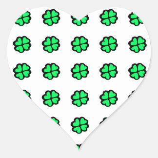 Lucky Irish Four-Leaf Clover/Shamrock Heart Sticker