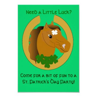 Lucky Irish Horse St. Patrick's Day Invite