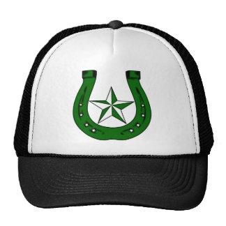 lucky irish horseshoe mesh hat