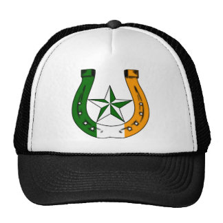 lucky irish horseshoe mesh hats
