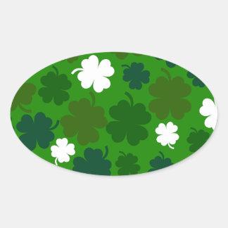 Lucky Irish Oval Sticker