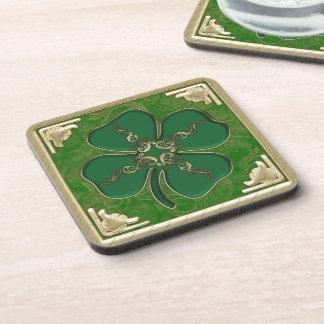 Lucky Irish Shamrock Coaster Set