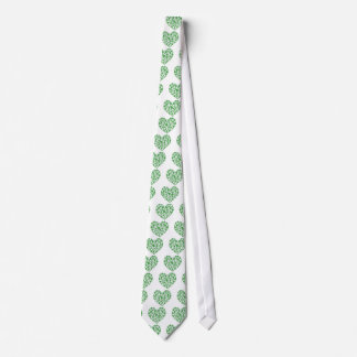 Lucky Irish Shamrock Heart Tie