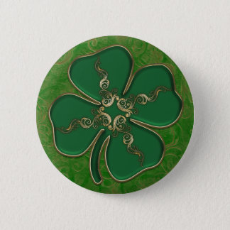 Lucky Irish Shamrock Pin Buttons