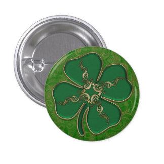 Lucky Irish Shamrock Pin Buttons