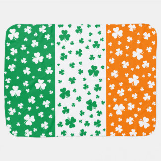 Lucky Irish Shamrocks Baby Blanket