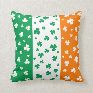 Lucky Irish Shamrocks Cushion