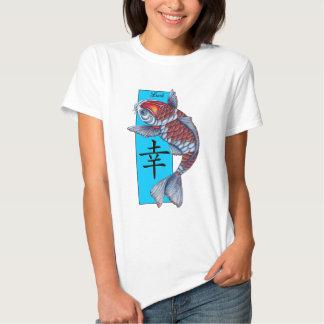 Lucky Kohaku Koi Fish Tshirt