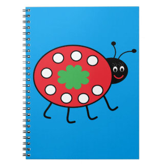 Lucky Ladybird  Notebook (80 Pages B&W)