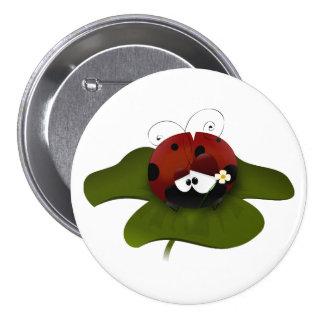 Lucky Ladybug 7.5 Cm Round Badge