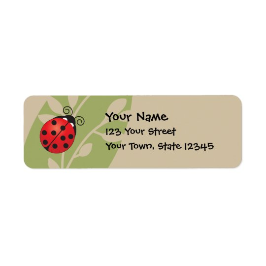 Lucky Ladybug Return Address Label